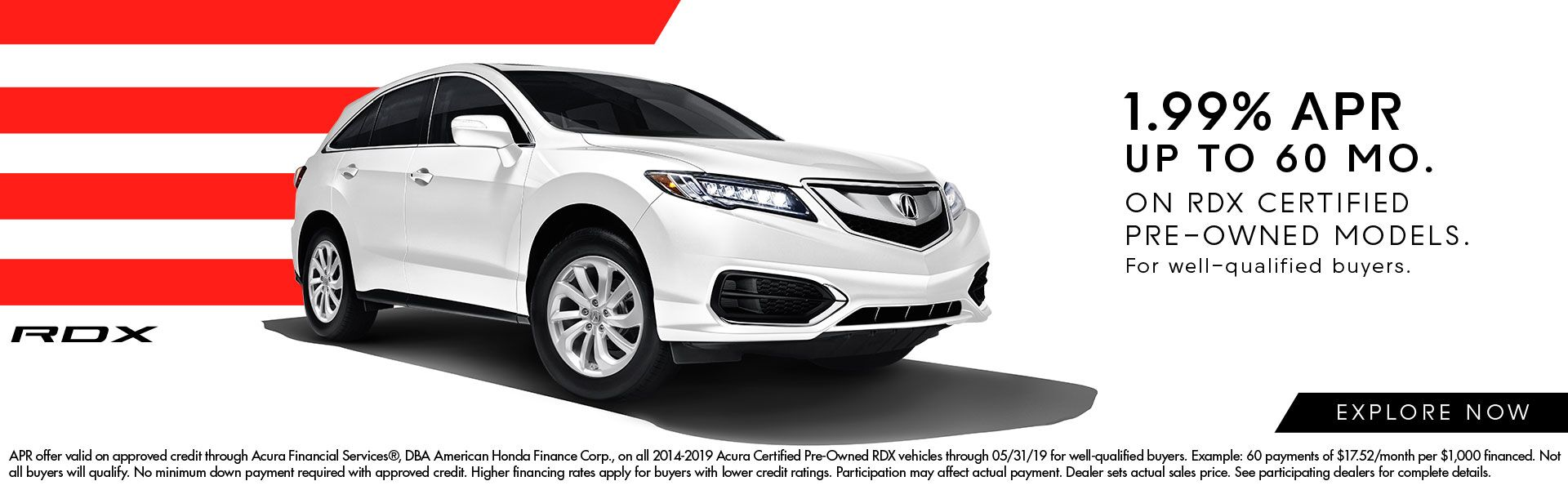 1.99% APR Incentives on Certified RDX at Acura of Augusta