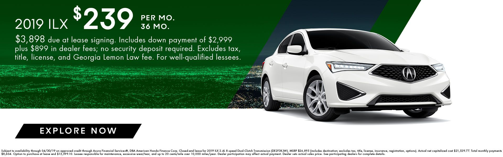 2019 ILX Incentives at Acura of Augusta
