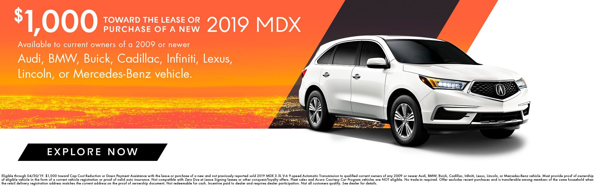 2019 MDX Incentives at Acura of Augusta