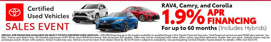 CPO Vehicles 1.9% APR Financing