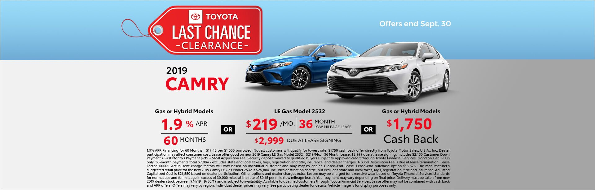 Camry Clearance