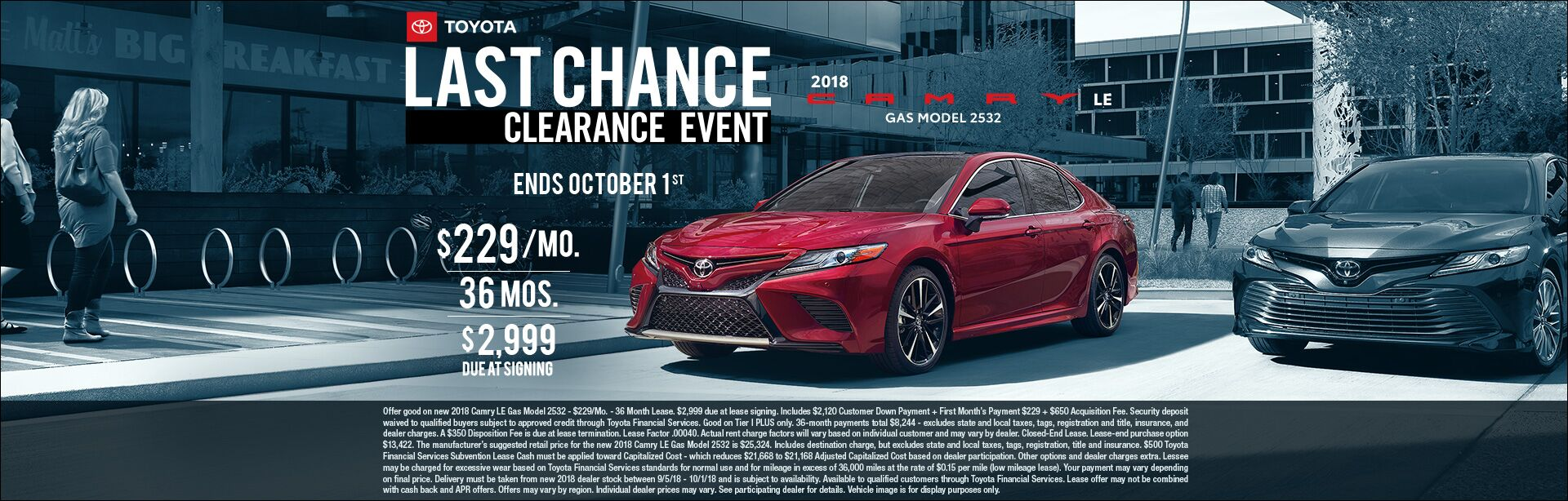 Camry Lease Sept 2018