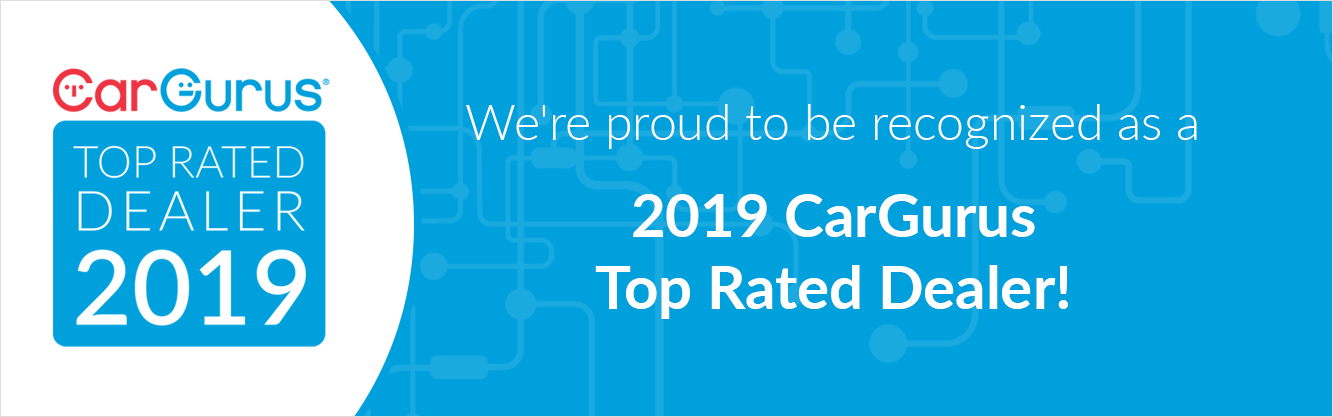 CarGurus Top Rated Dealer Award for Customer Service and Transparency