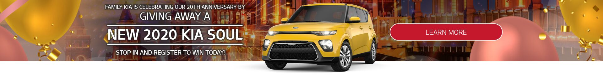 Family Kia 20th Anniversary 2020 Soul Giveaway