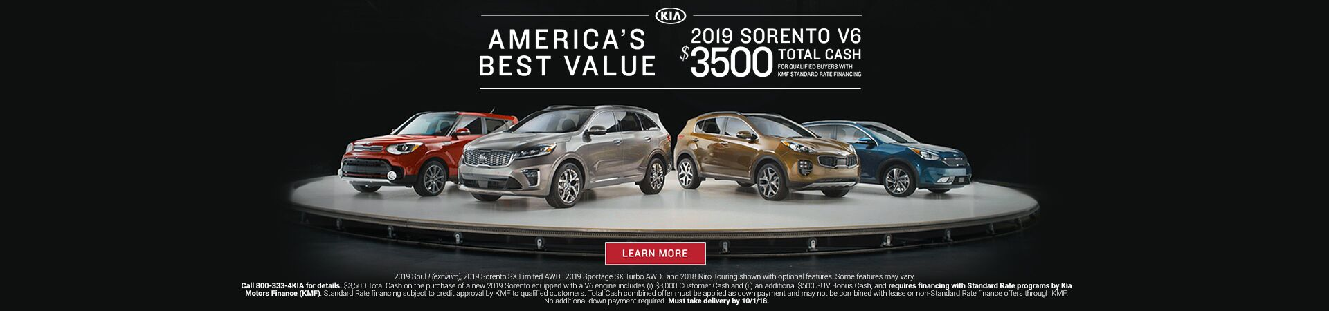 America's Best Value 2019 Sorento Family Kia of St. Augustine