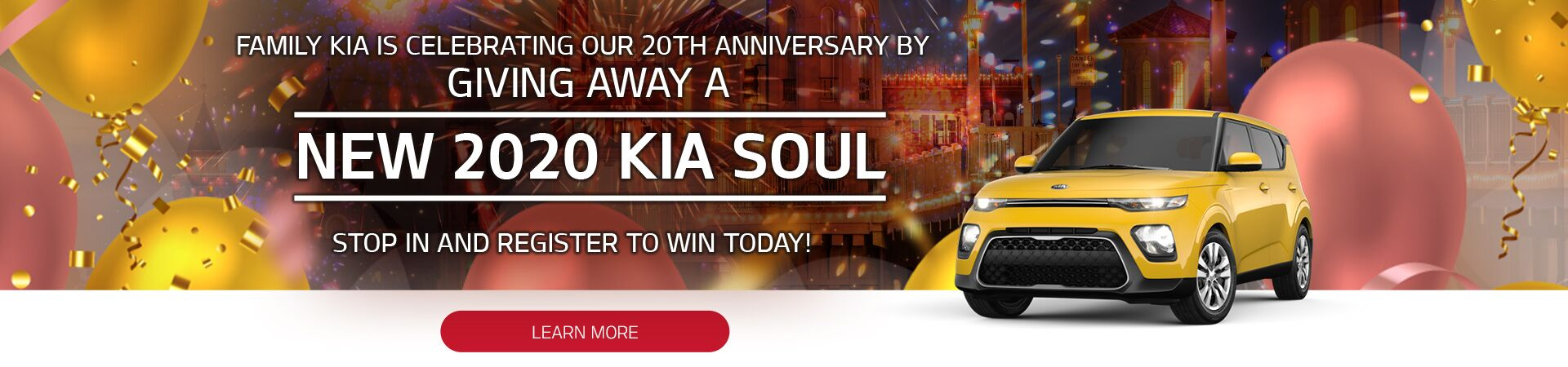 Family Kia 20th Anniversary 2020 Kia Soul Giveaway