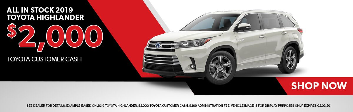 All In Stock 2019 Toyota Highlander