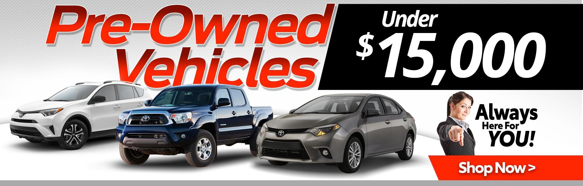 Pre-owned Vehicle Under $15,000