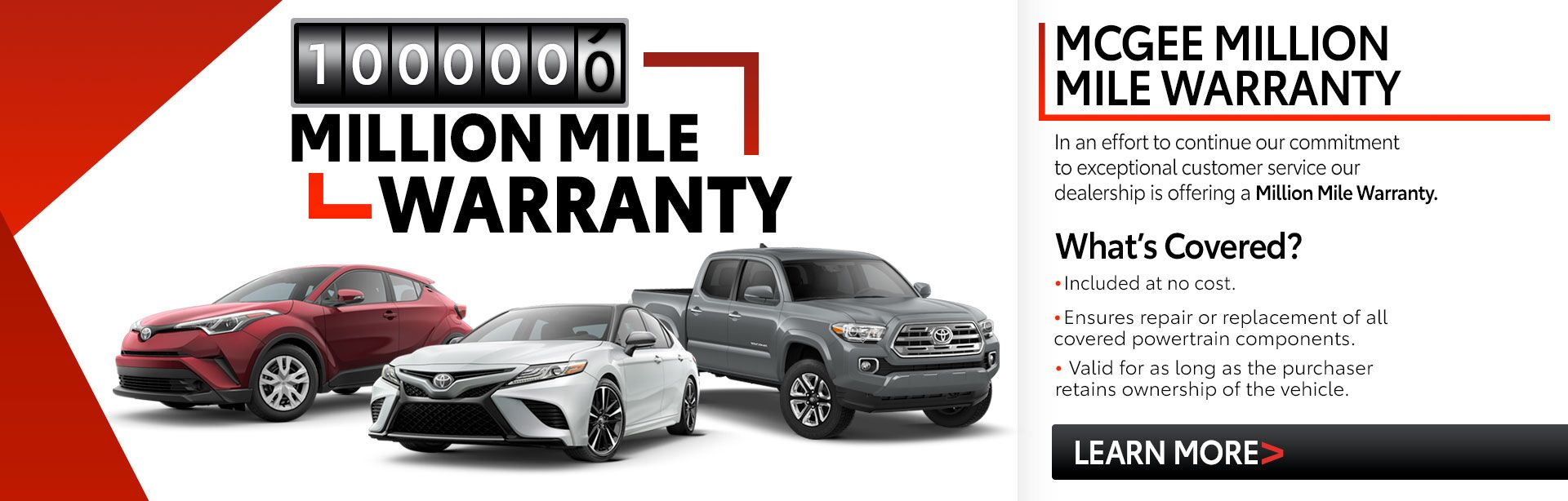 McGee Million Mile Warranty