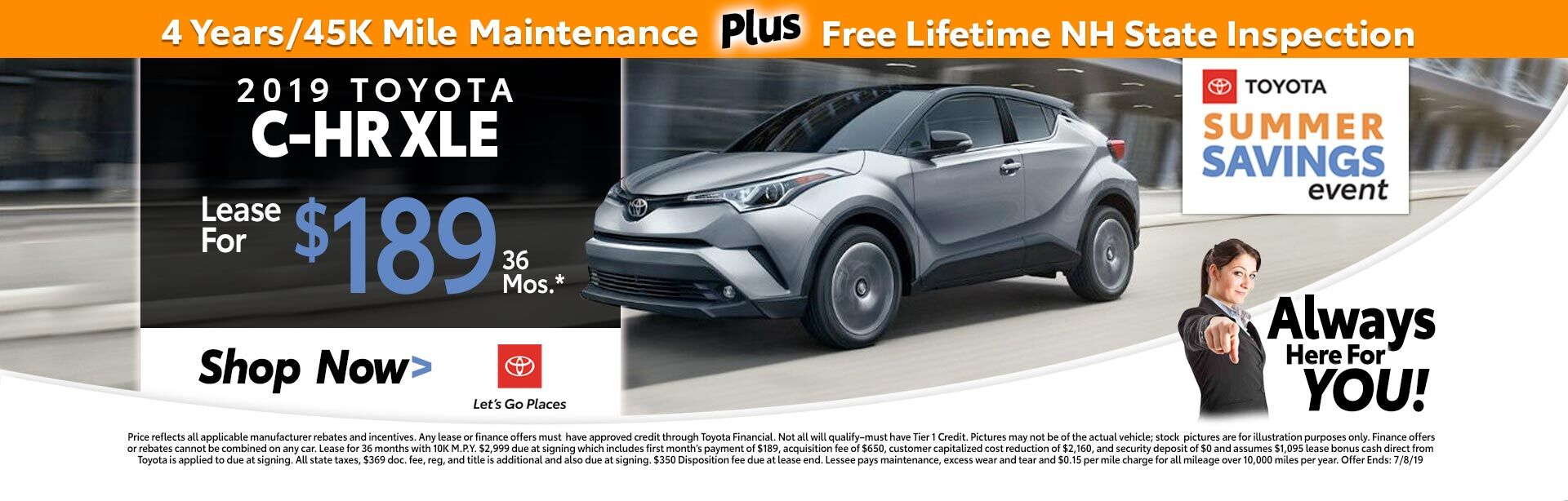 C-HR Lease Special