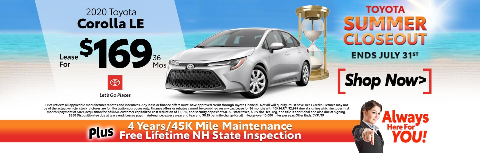 2020 Corolla Special Lease