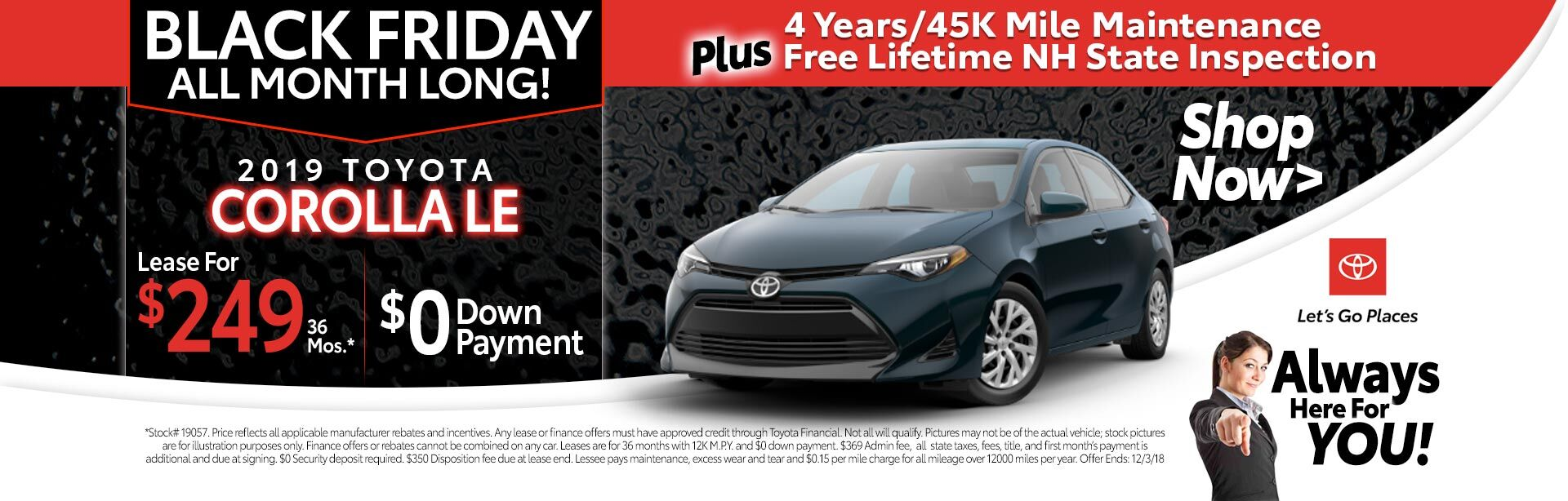 2018 Corolla Special Lease