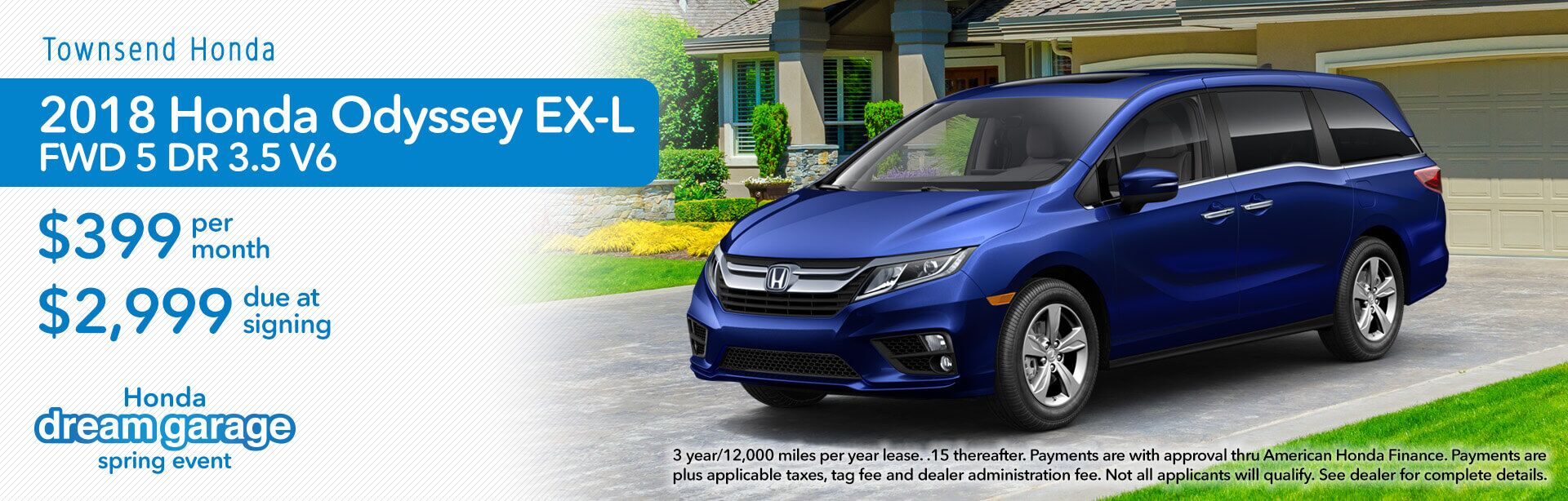 Lease special on 2018 Honda Odyssey EX-L in Tuscaloosa