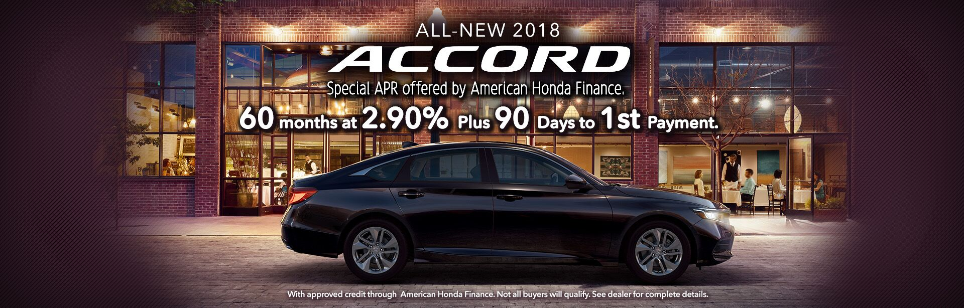 90 days to first payment on 2018 Honda Accord in Tuscaloosa