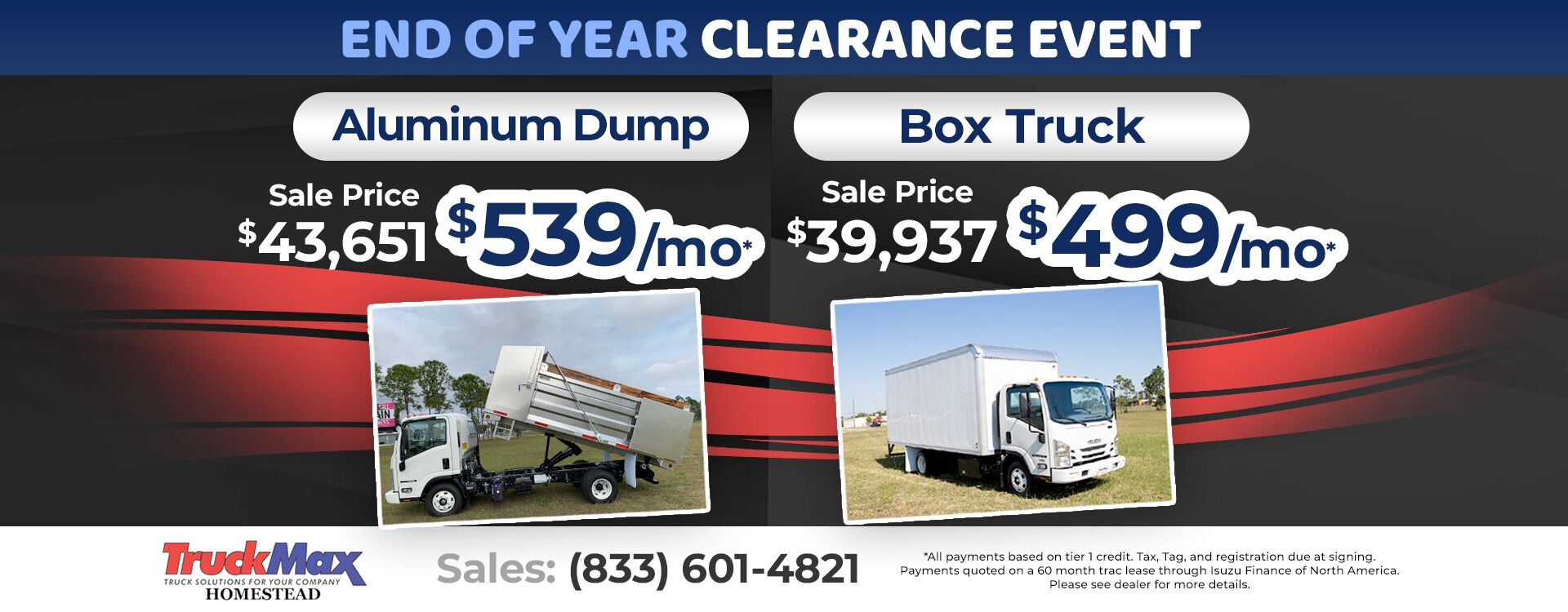 End of Year Clearance Event at Truck Max