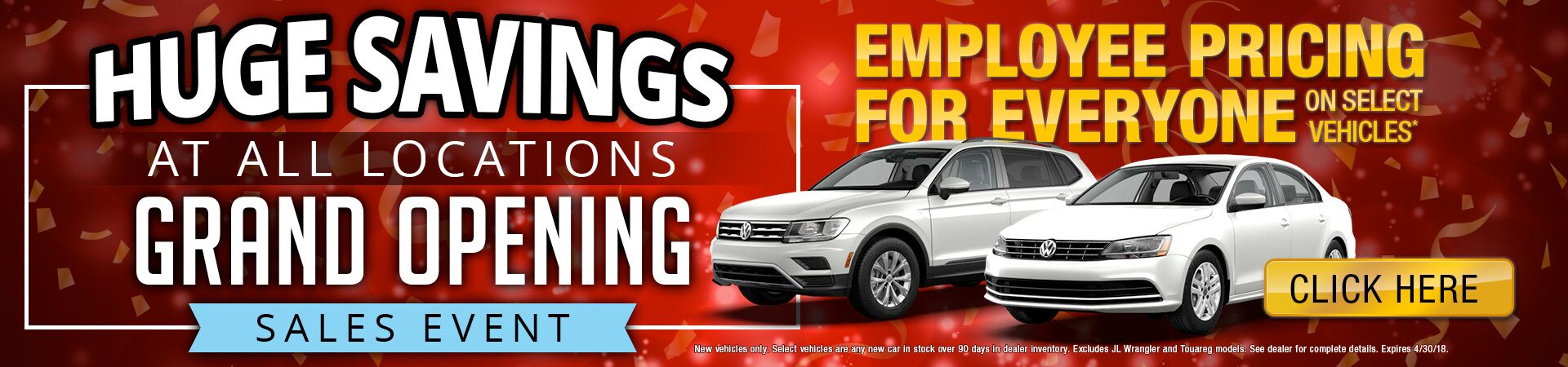 Huge Savings Event at Crown Volkswagen