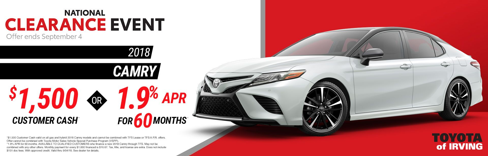 Camry August 2018
