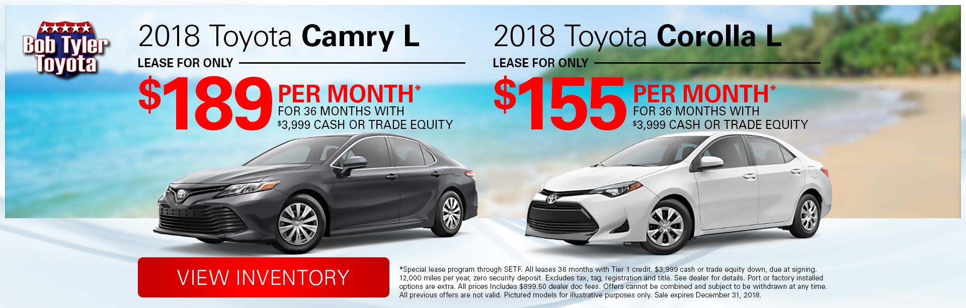 Camry and Corolla L