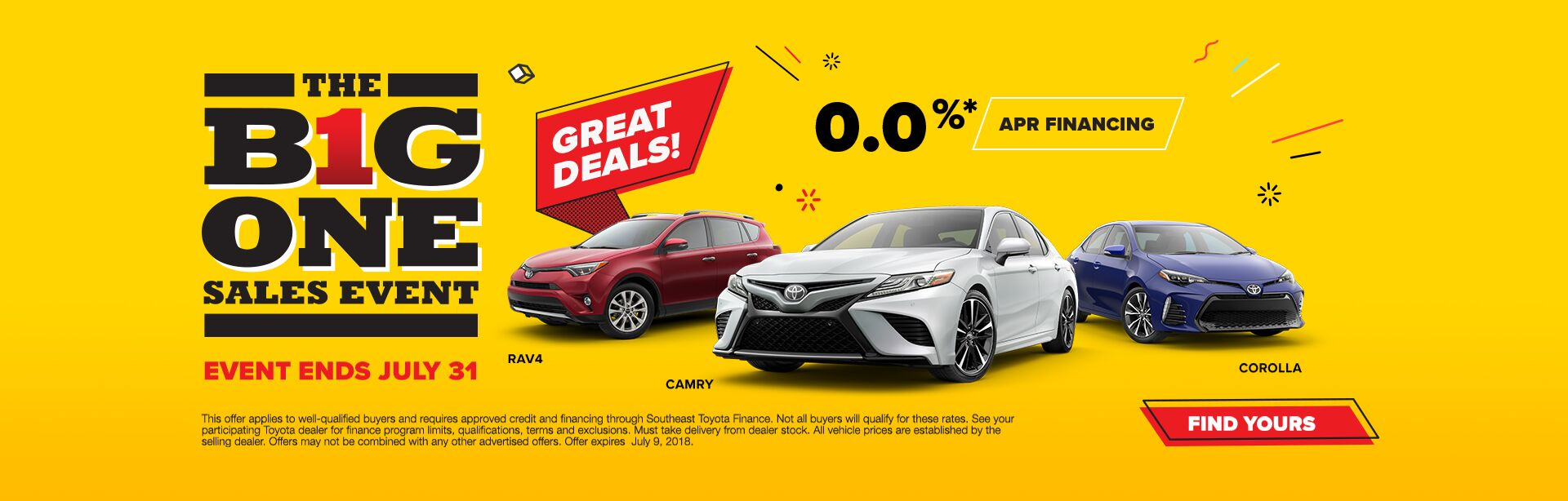 The Big One Sales Event July
