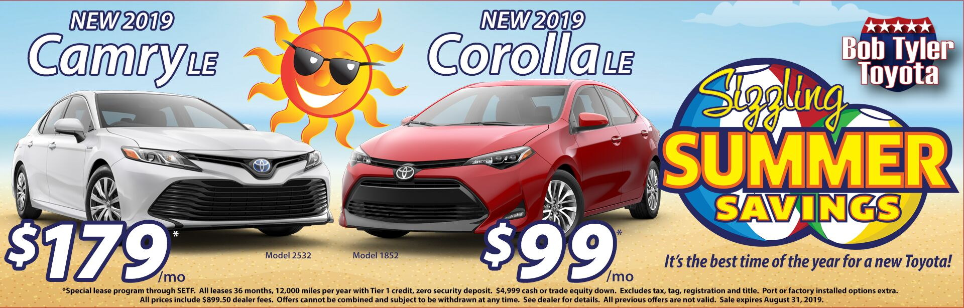 Camry and Corolla Summer Offer