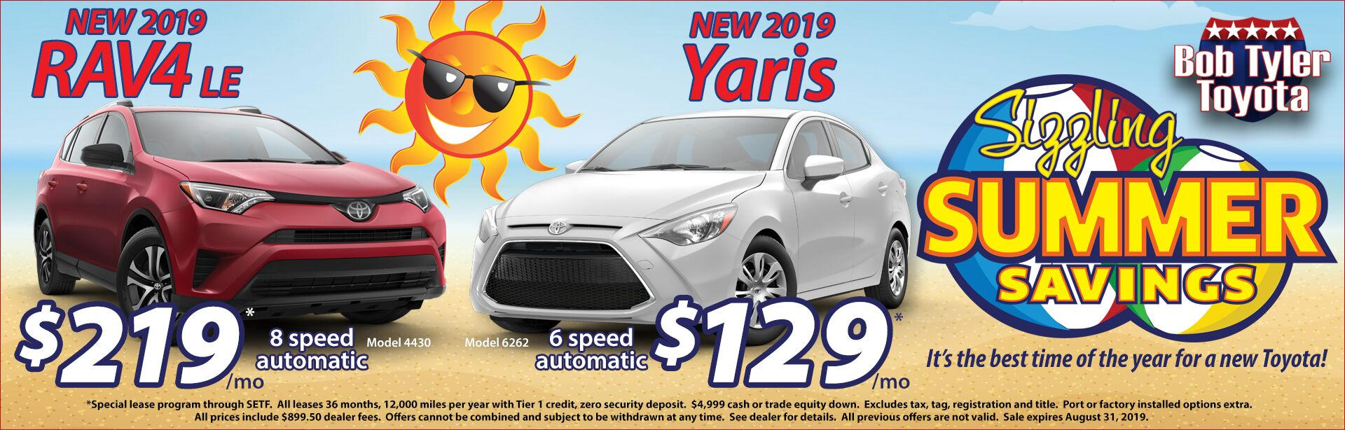 RAV4 Yaris Summer Offer
