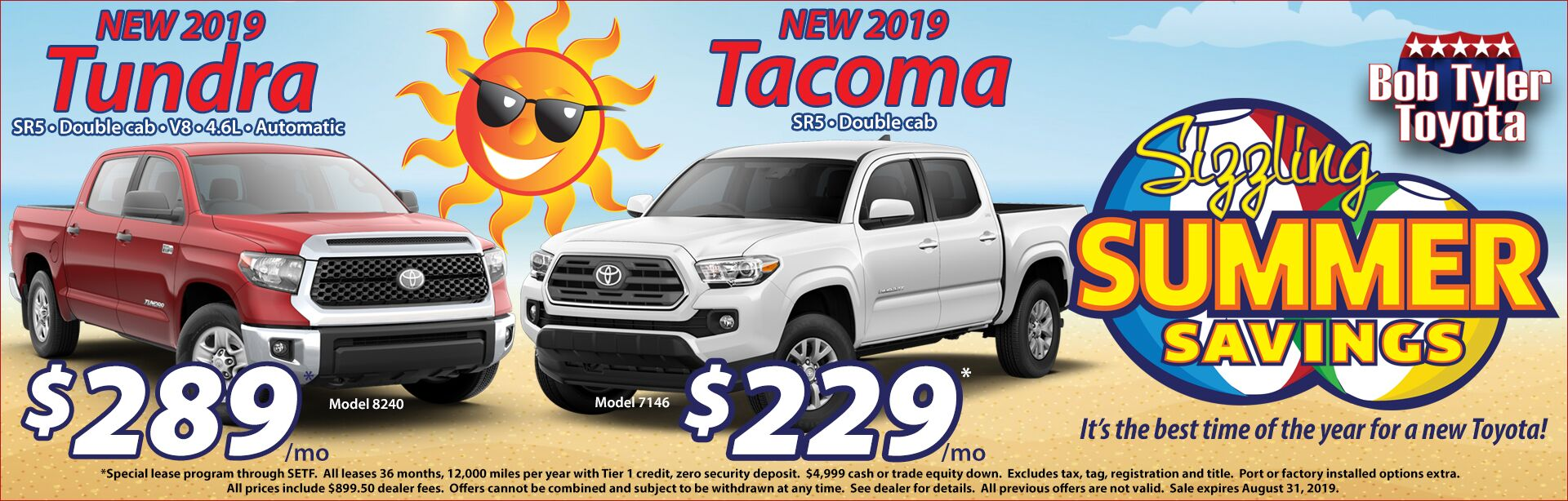 Tundra and Tacoma Summer Offer