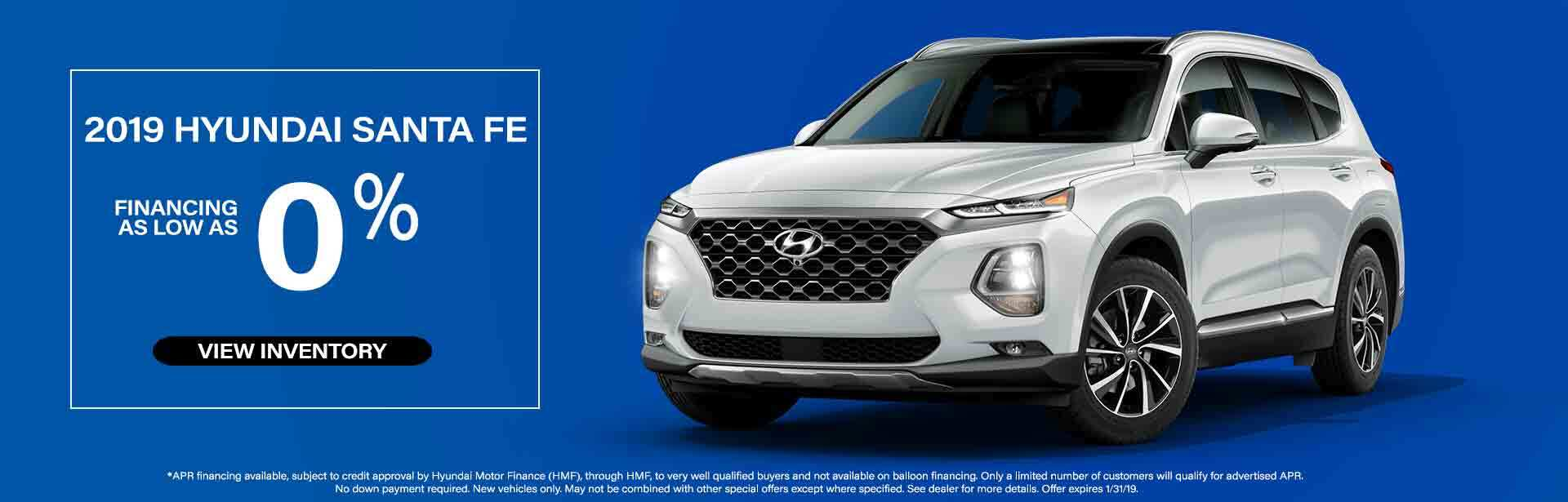 2019 Hyundai Santa Fe JAN OFFER