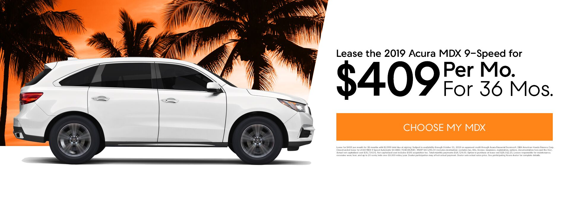 October MDX Lease Special