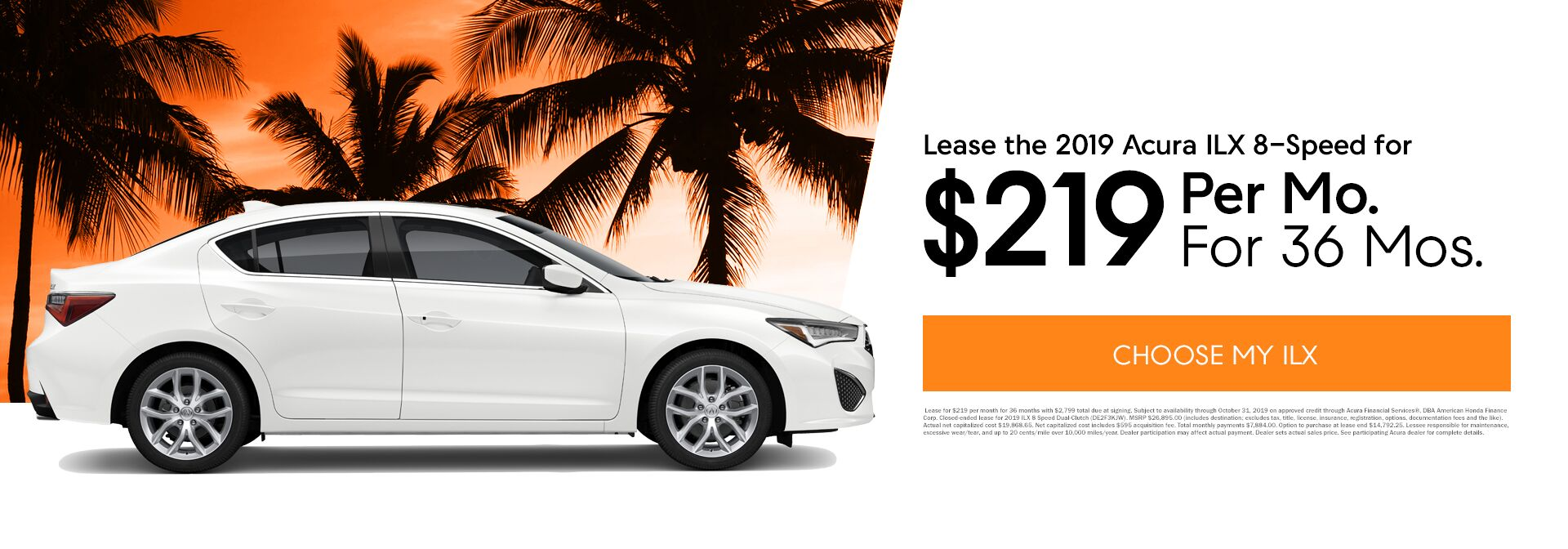 October ILX Lease Special