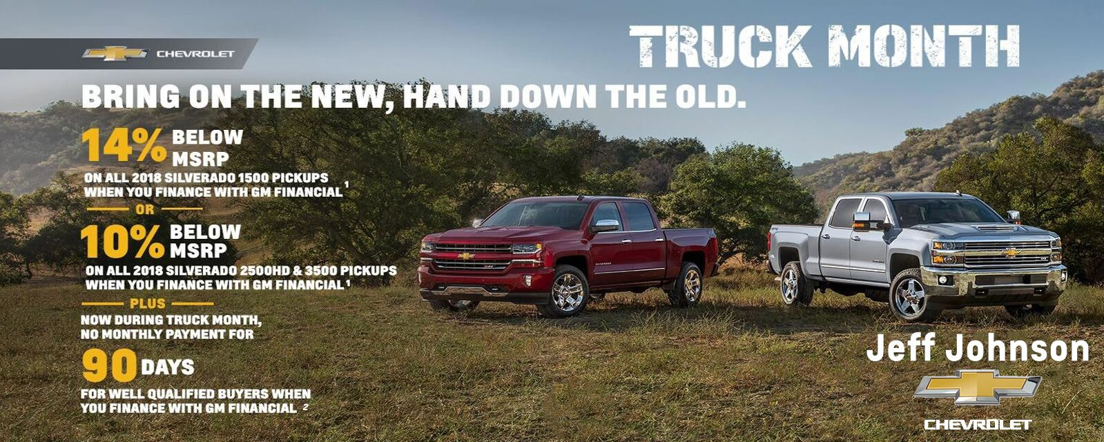 Truck Month at Jeff Johnson Chevrolet