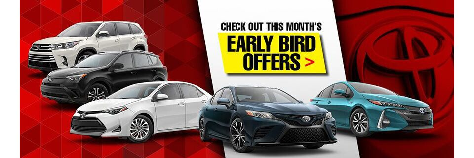 Early Bird Offers at Toyota of Massapequa