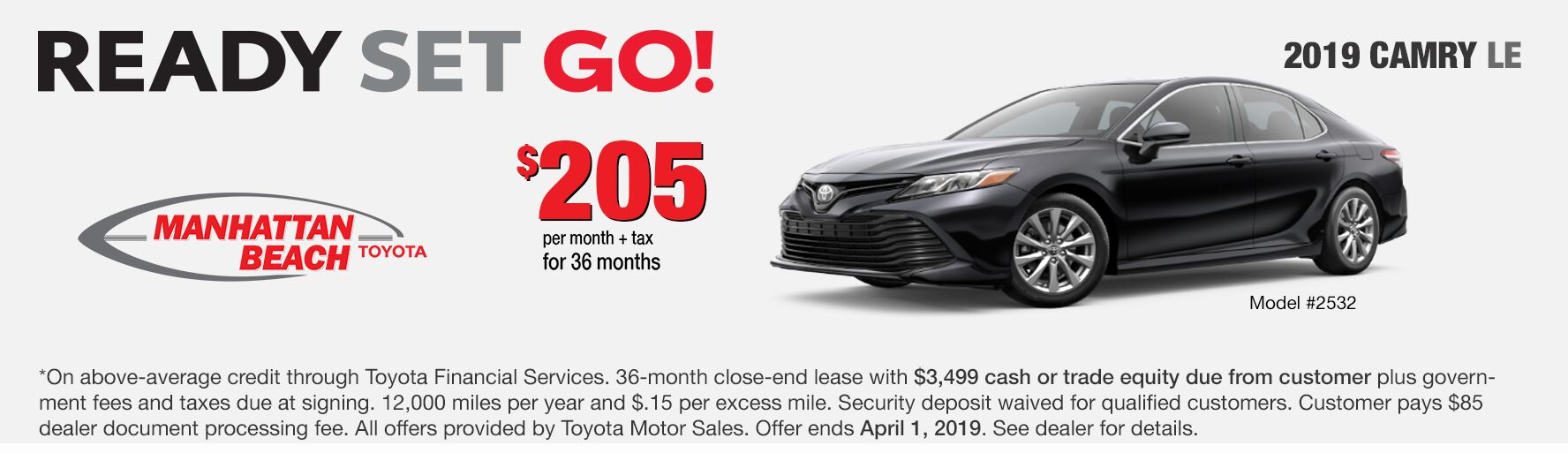 Camry LE Lease Special