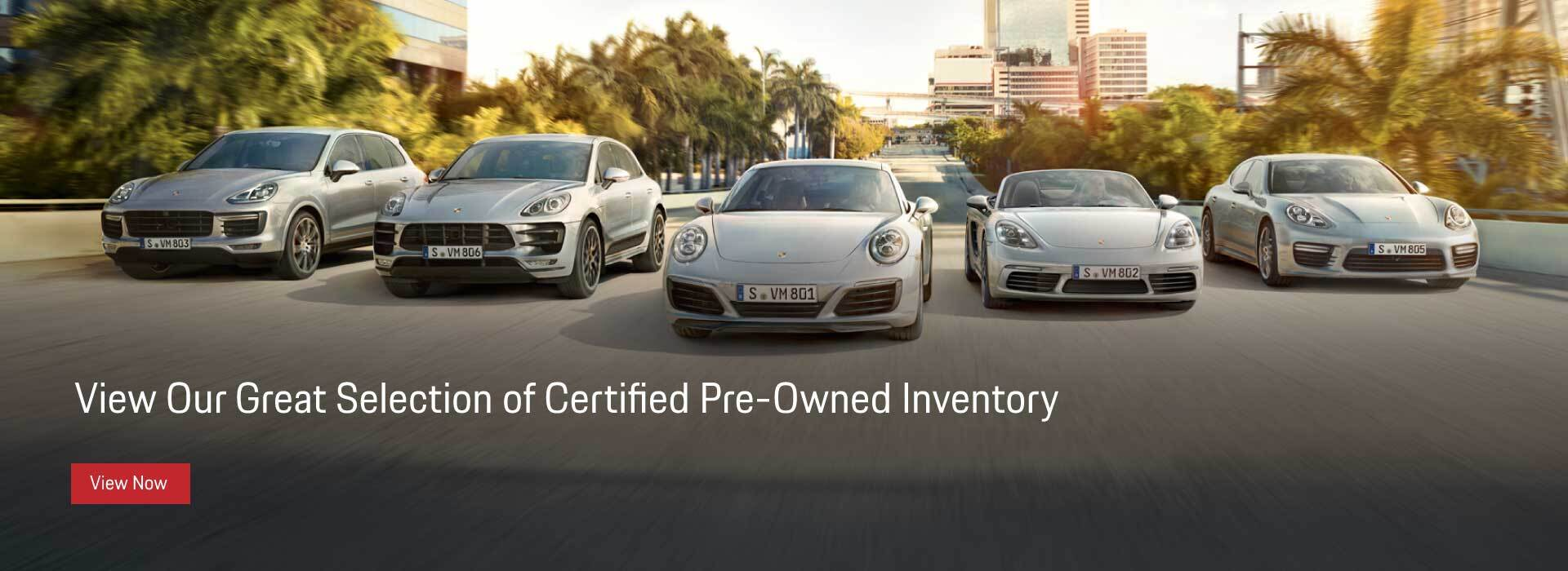 Certified Pre Owned Porsche Inventory