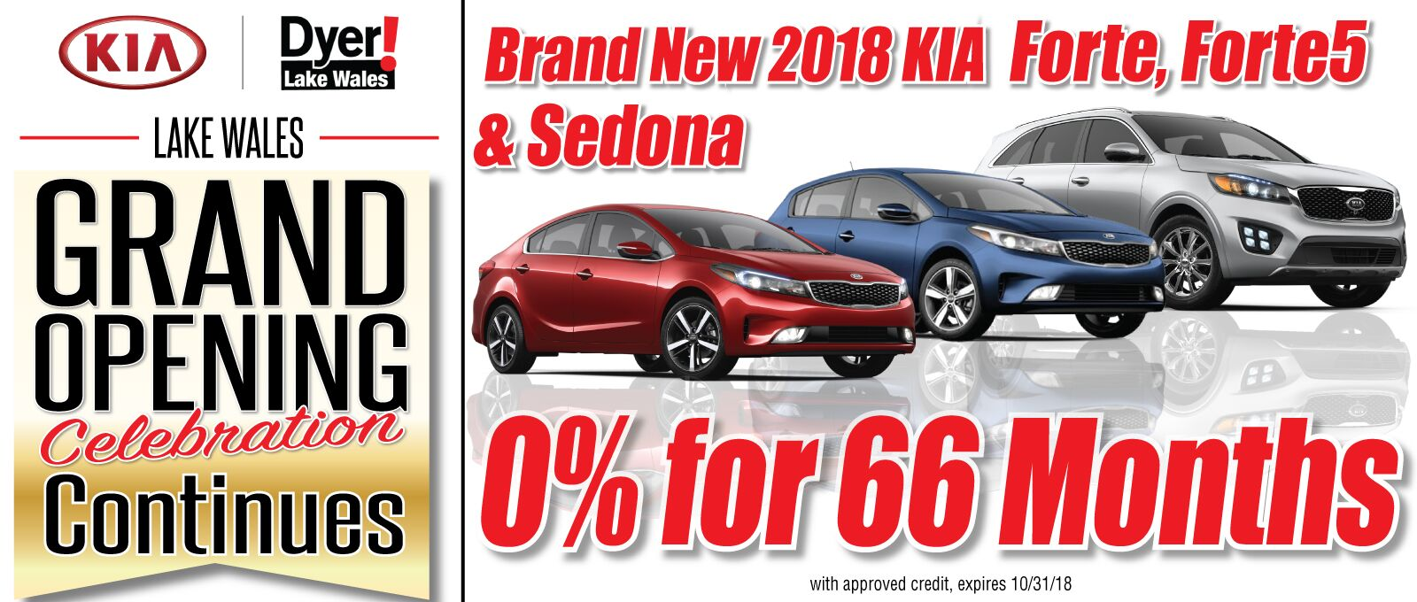 0% APR on Forte and Sedona