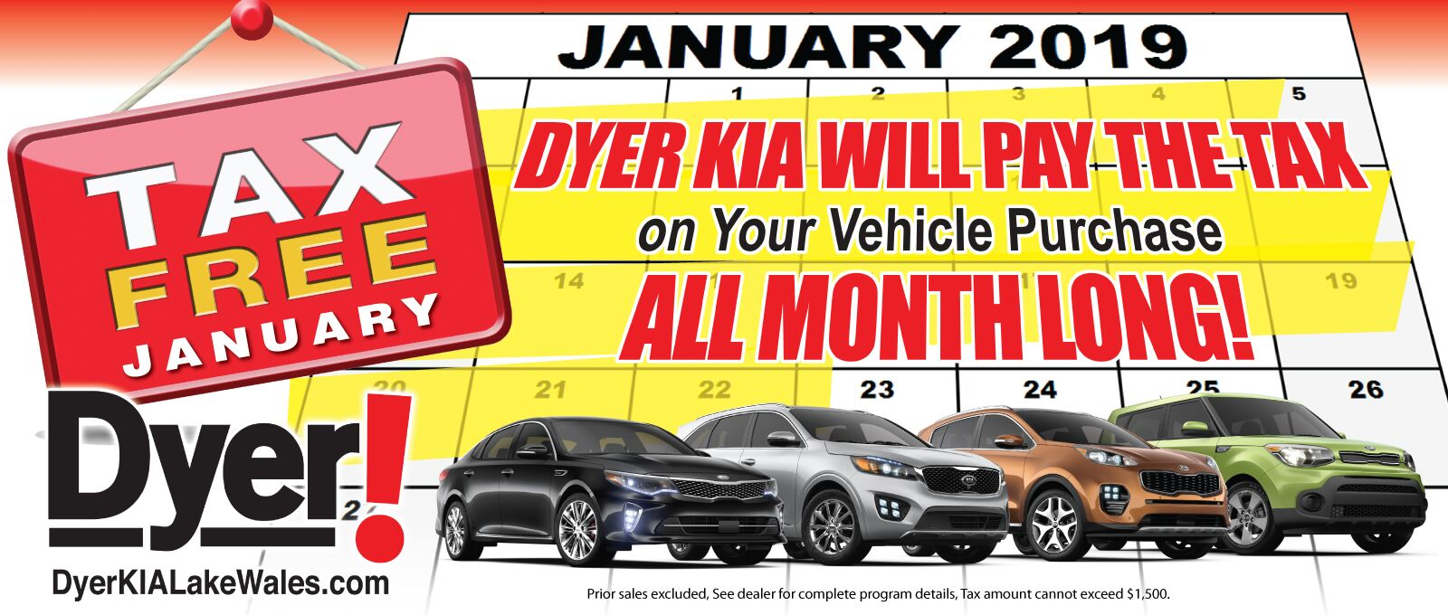DYER KIA WILL PAY THE TAX