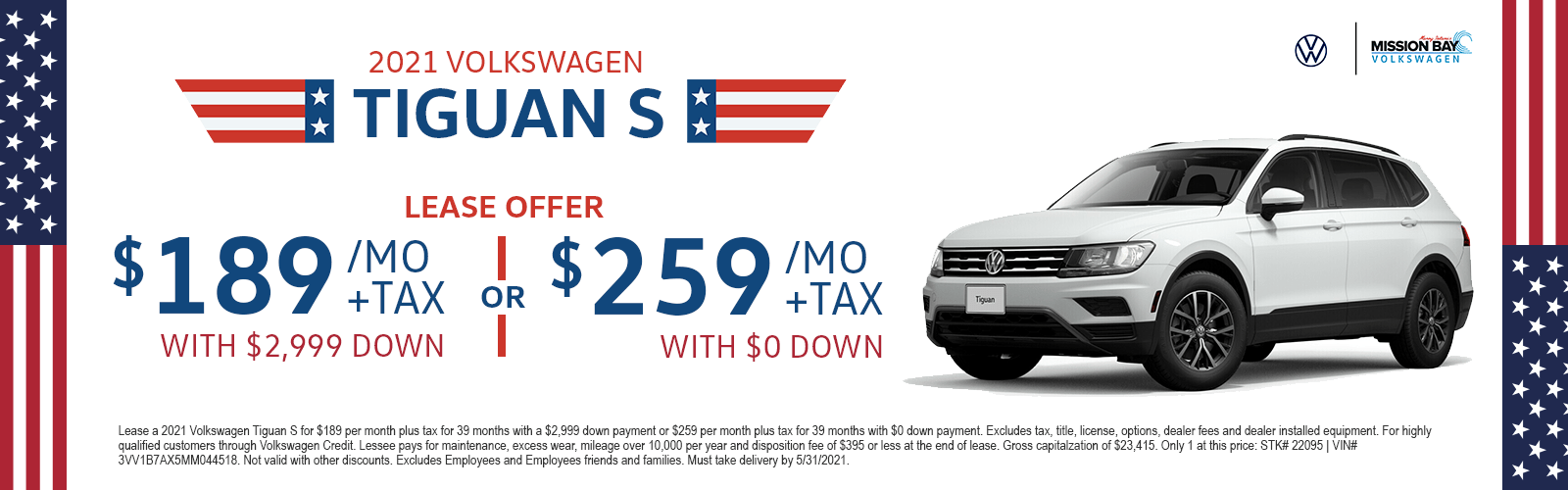 2021 Volkswagen Tiguan lease deals at San Diego VW dealership