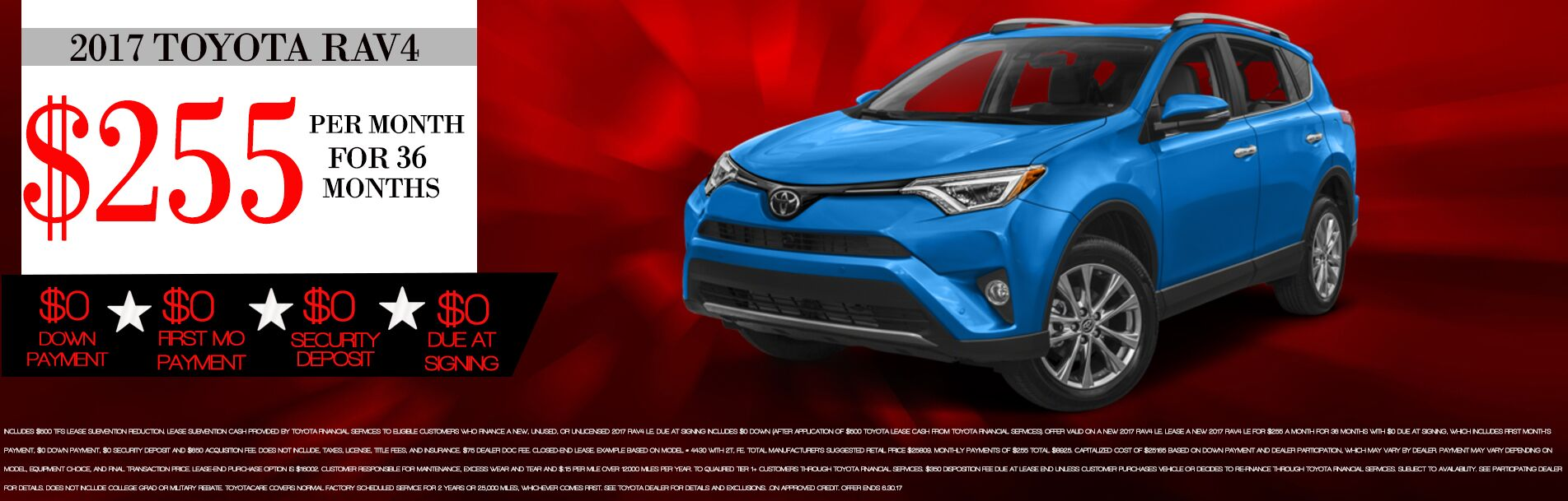 2017 Toyota Rav4 Lease Specials