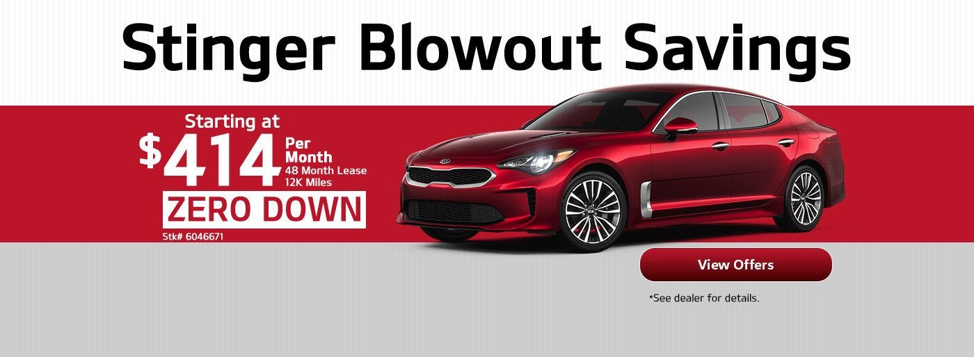 Kia Stinger Blowout Savings
