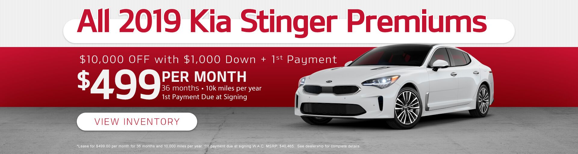 All 2019 Kia Stinger Premiums
