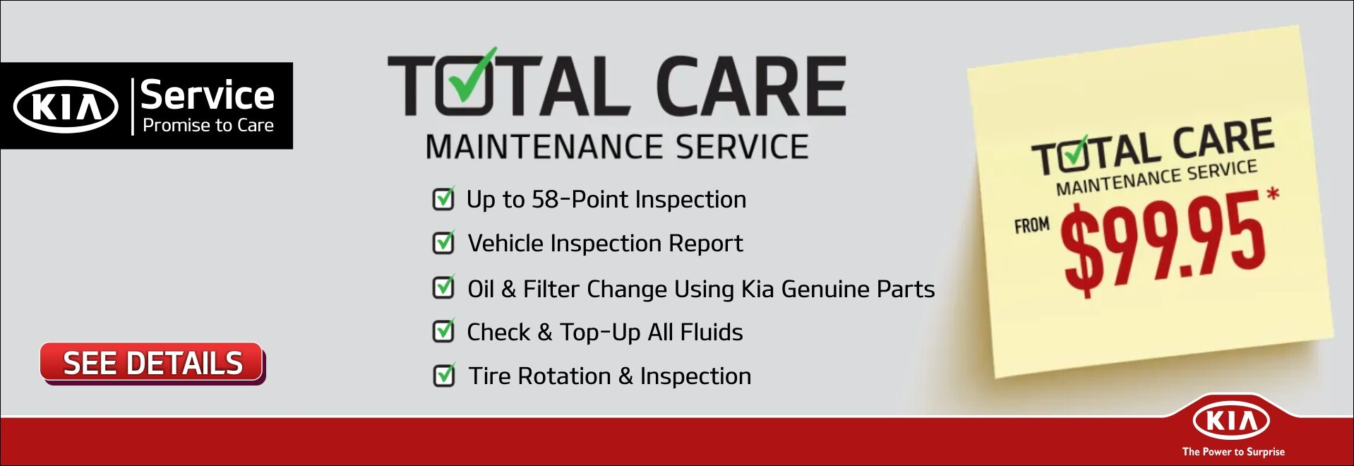 Kia Total Care Maintenance