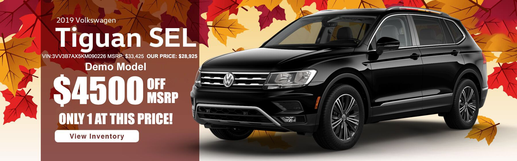 Tiguan DEMO $4500 OFF MSRP