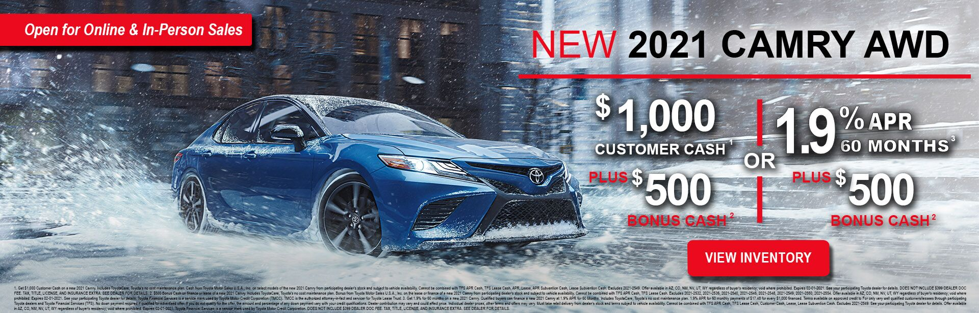 1-5-21 Camry offer