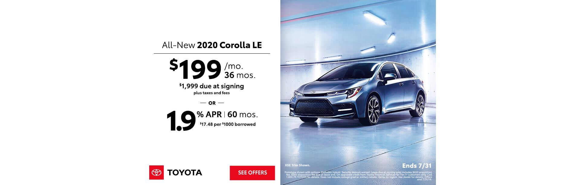 2019 July DEN Dear Toyota Dealer Corolla