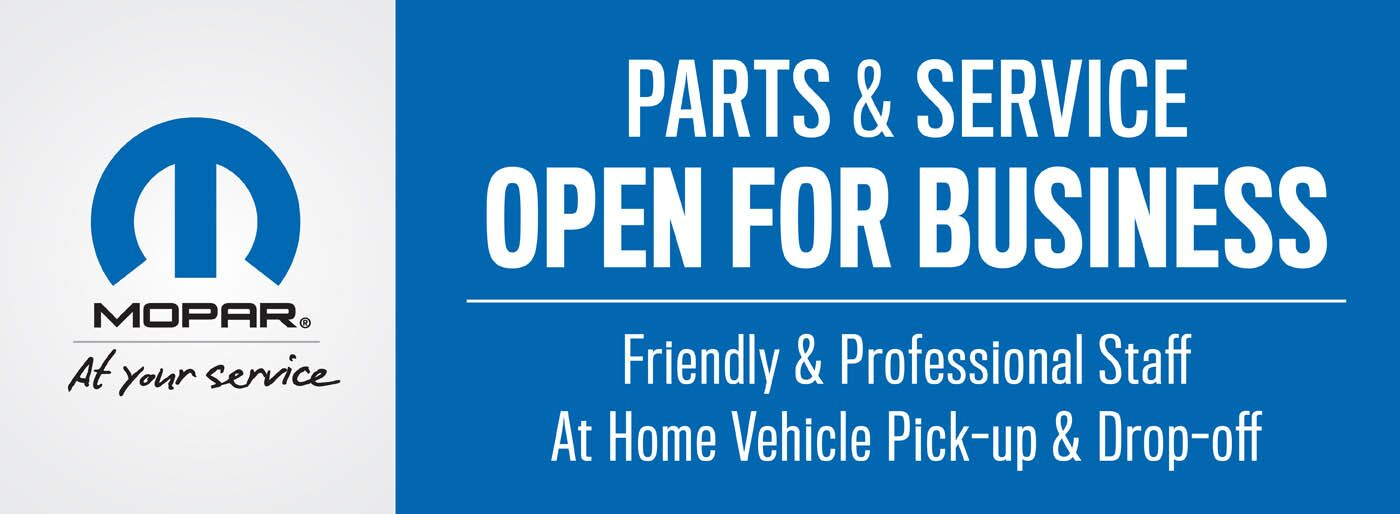 Parts and Service Open