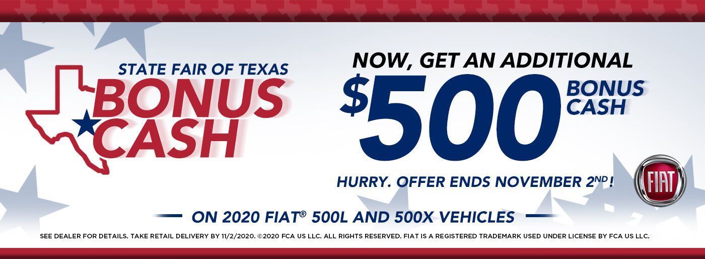 State Fair of Texas $500 Cash FIAT DFW DMA