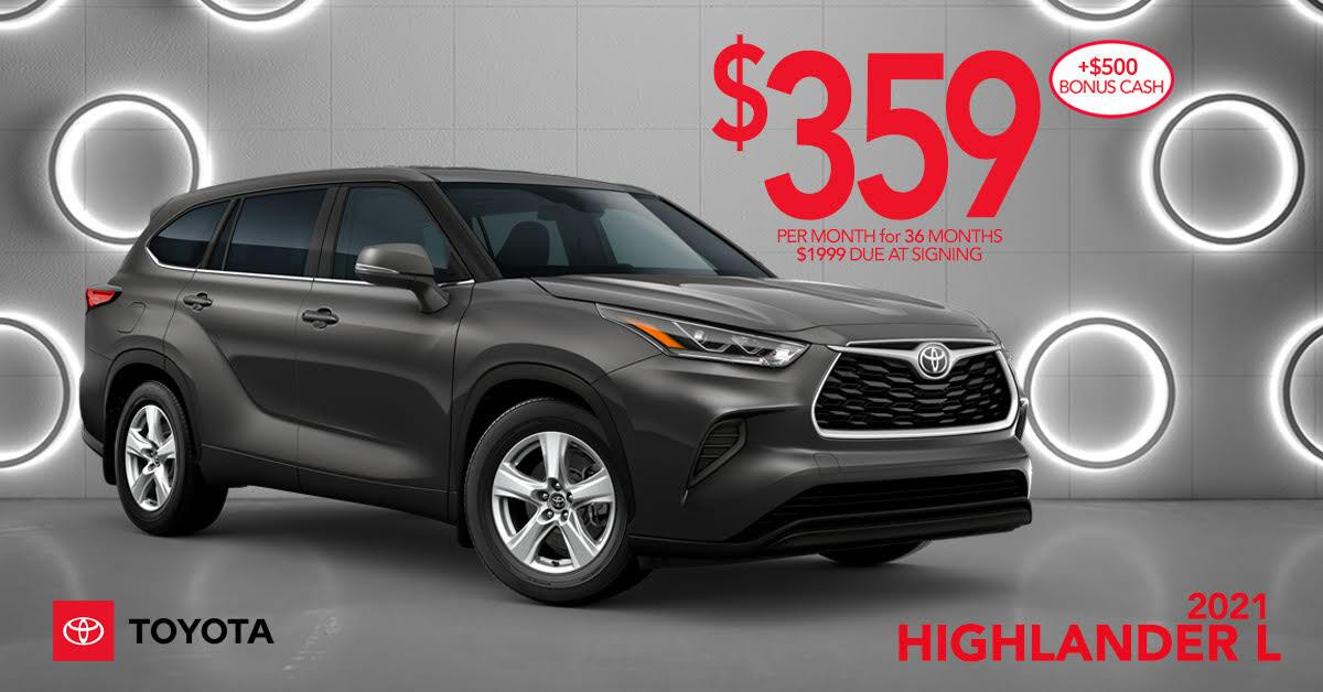 2021 Highlander L Lease Offer