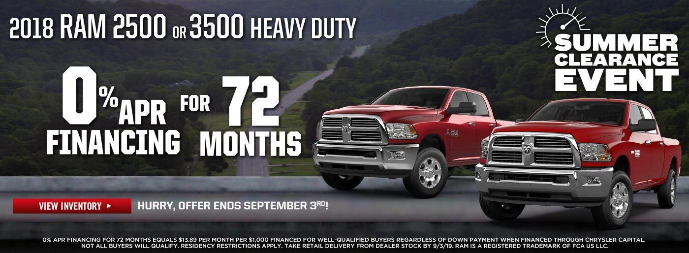 New RAM Heavy Duty Truck Specials