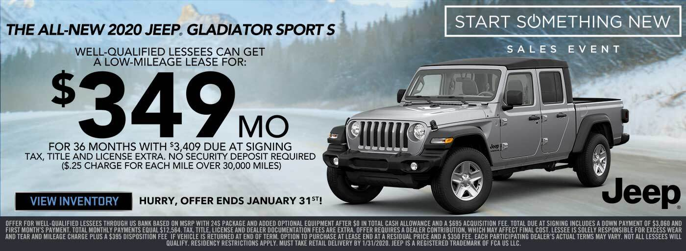 Jeep Gladiator Lease Special
