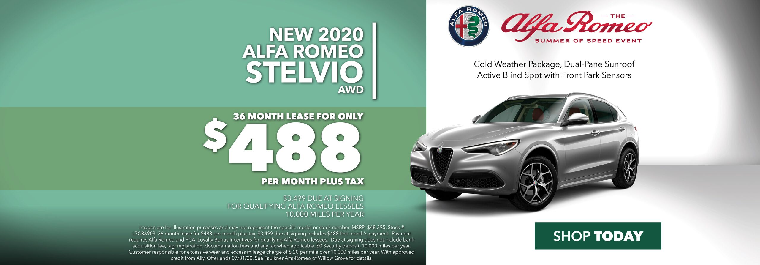 Lease a New 2020 Alfa Romeo Stelvio