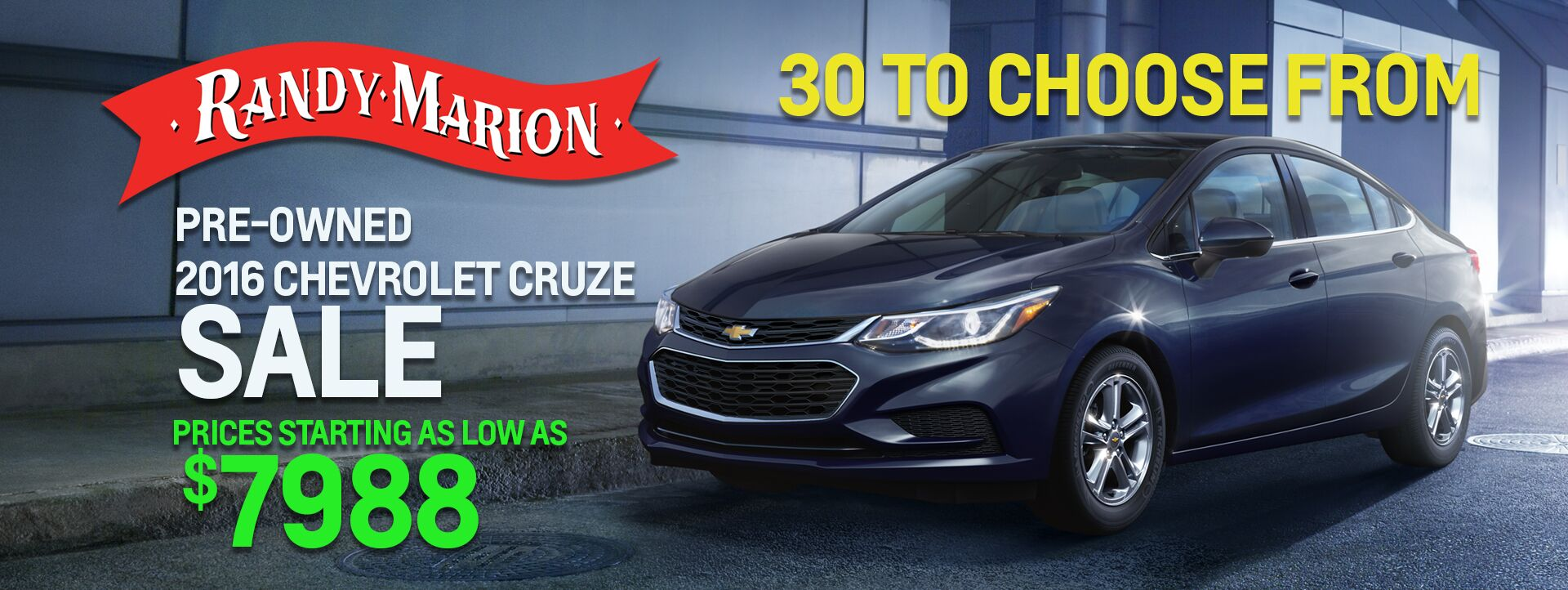 May Pre-Owned Cruze Sale